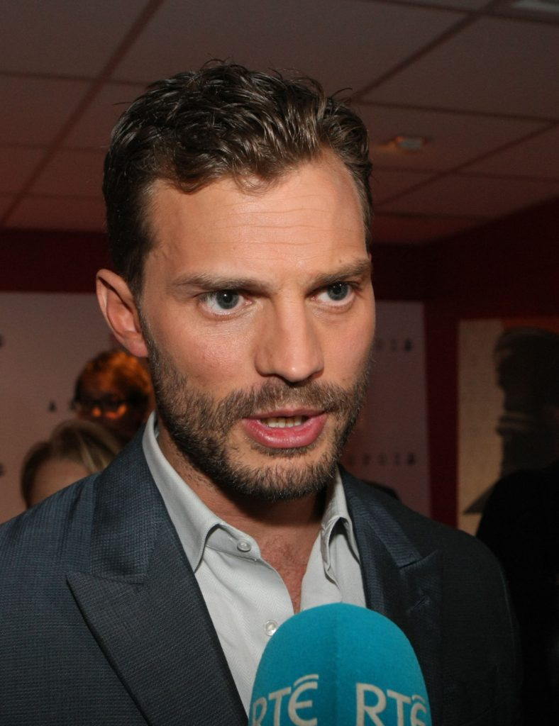 31.August.2016 - Dublin - Ireland Actor Jamie Dornan attends at the Irish film premiere of Anthropoid at Cine World in Dublin, Ireland. BYLINE MUST READ: XPOSUREPHOTOS.COM *STRICTLY NOT AVAILABLE FOR -- USE IN IRELAND* ***UK CLIENTS - PICTURES CONTAINING CHILDREN PLEASE PIXELATE FACE PRIOR TO PUBLICATION *** PLEASE CREDIT AS PER BYLINE  *UK CLIENTS MUST CALL PRIOR TO TV OR ONLINE USAGE PLEASE TELEPHONE 0208 344 2007*